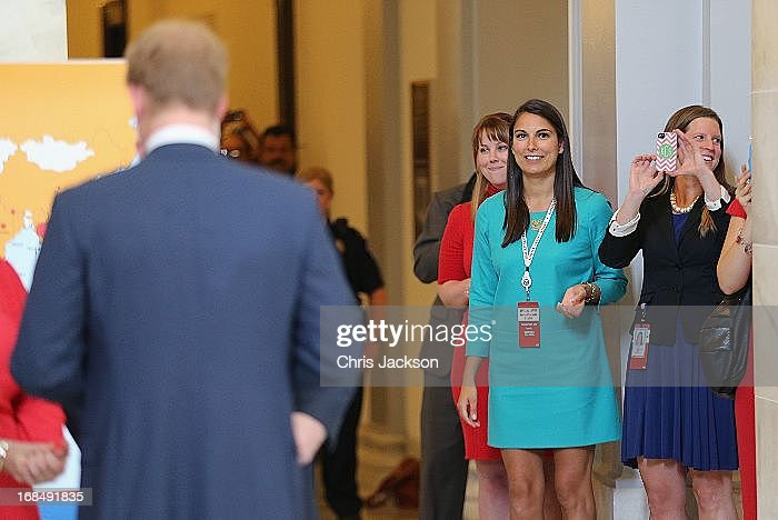Women await the arrival of HRH <a gi-track='captionPersonalityLinkClicked' href=/galleries/search?phrase=Prince+Harry&family=editorial&specificpeople=178173 ng-click='$event.stopPropagation()'>Prince Harry</a> before he tours an anti-landmine photography exhibition by The HALO Trust charity during the first day of his visit to the United States at the Russell Senate Office Building on May 9, 2013 in Washington, DC. HRH will be undertaking engagements on behalf of charities with which the Prince is closely associated on behalf also of HM Government, with a central theme of supporting injured service personnel from the UK and US forces.