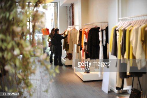 Women boutique dress shopping in paris france stock photo getty images - Paris shopping boutiques ...