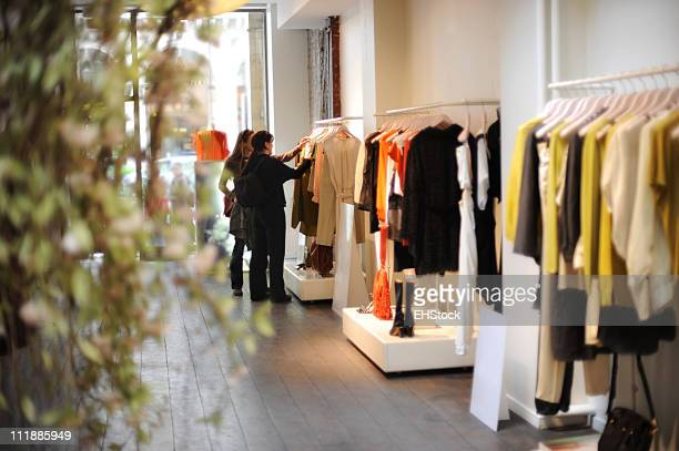 Women Boutique Dress Shopping in Paris France