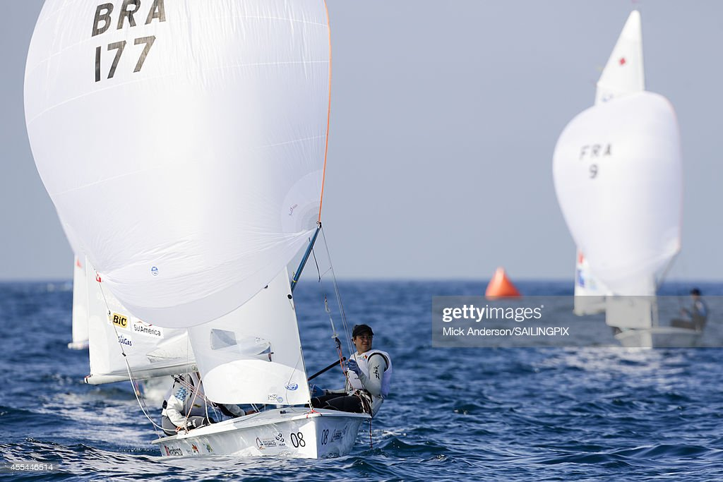 Women BRA177 Fernanda Oliveira / Ana Luiza Barbachan in action during Day 3 of the 2014 ISAF Sailing World Championships on September 14 2014 in...
