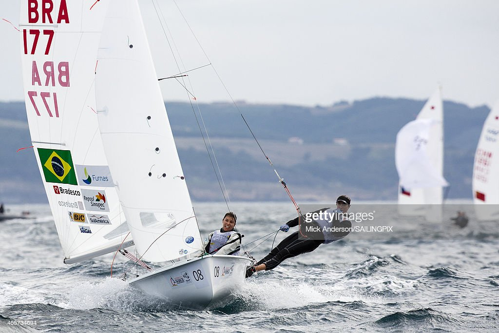 Women BRA177 Fernanda Oliveira / Ana Luiza Barbachan in action during Day 8 of the 2014 ISAF Sailing World Championships on September 19 2014 in...