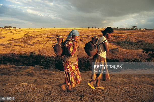 Women carrying water,Ethiopia