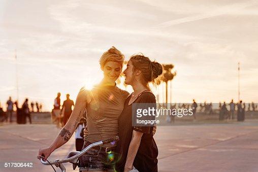 Women couple in LA