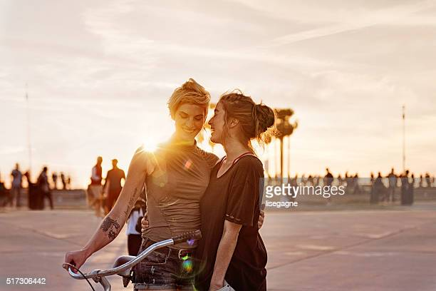 Women couple in LA