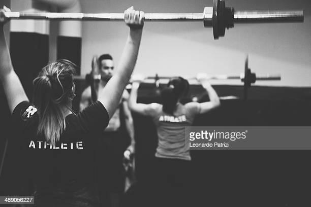 Women crossfit training