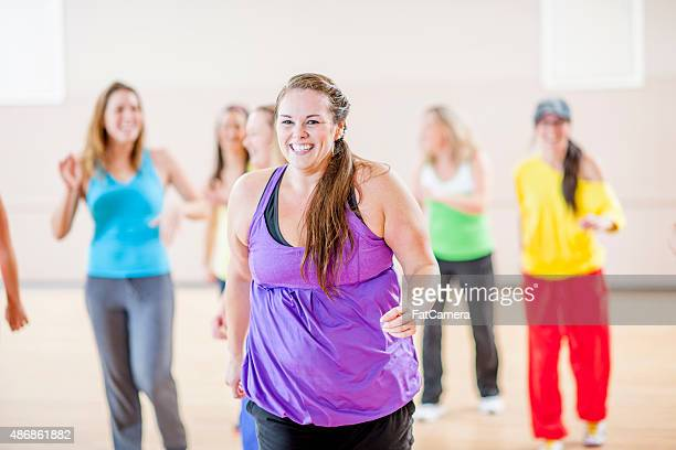 Women Dancing at a Studio