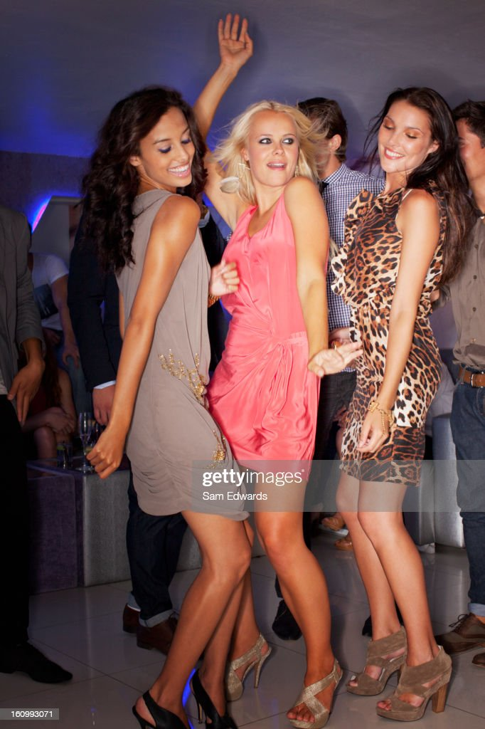 Women dancing in nightclub : Stock Photo