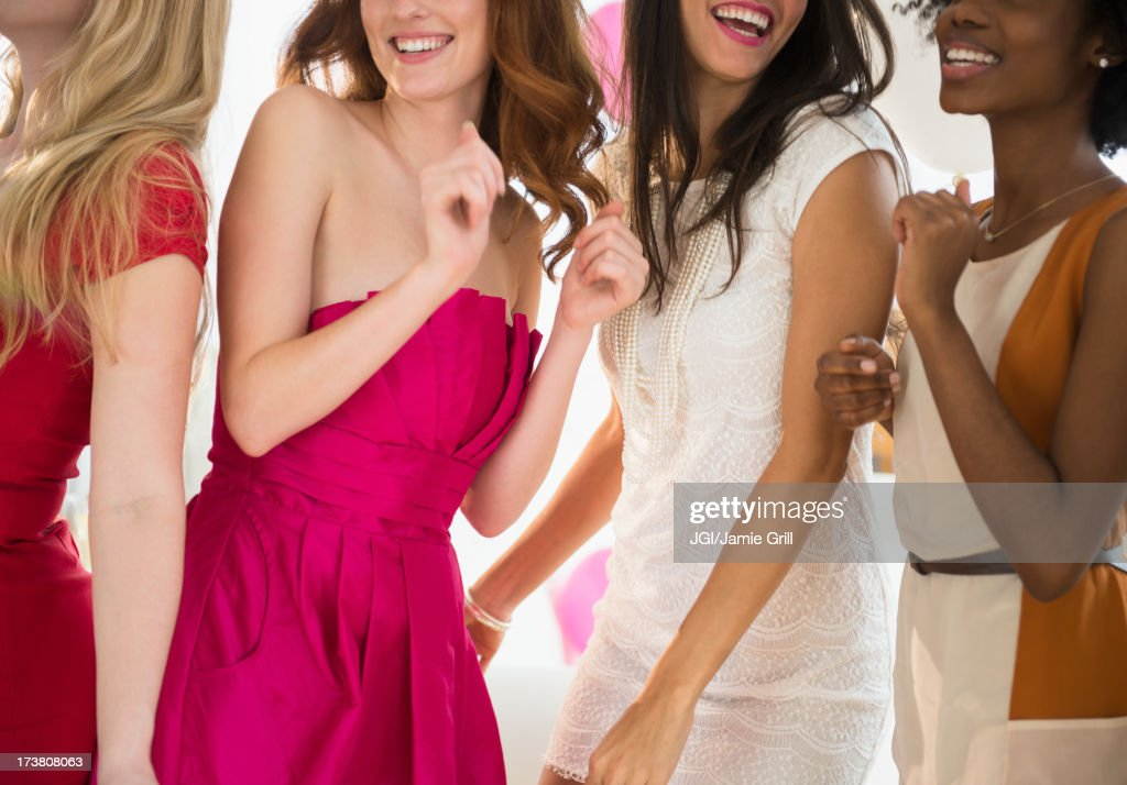 Women dancing together at party : Stock Photo