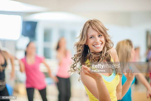 Women Dancing Together at the Gym