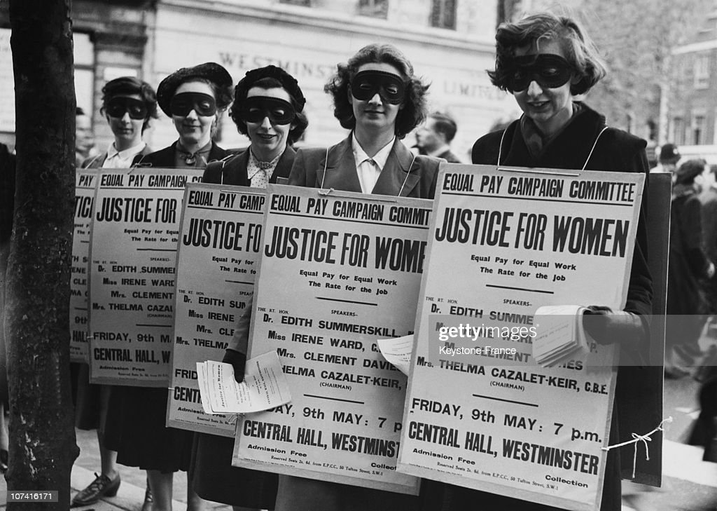 Women Demonstrating For The Women Rights In London On May 7Th 1952
