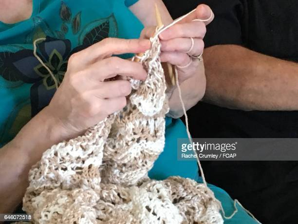 Women doing crochet