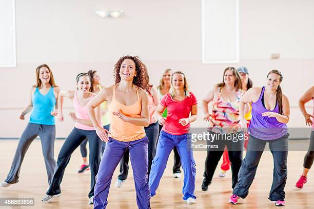 Women Doing Fitness Class Together