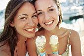 Women eating ice cream