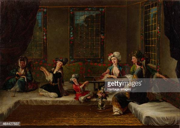 Women Embroidering 1730s Found in the collection of the Pera Museum Istanbul