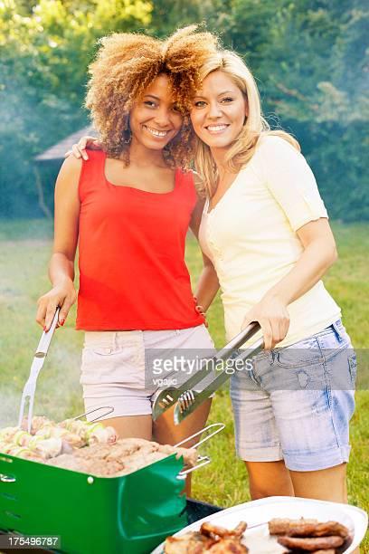 Women enjoying a barbecue