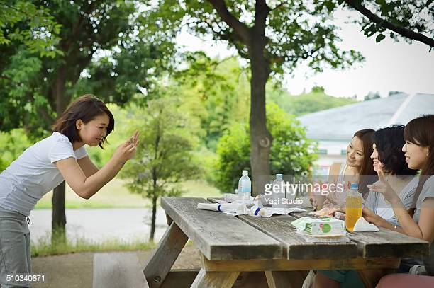 Women enjoying in park