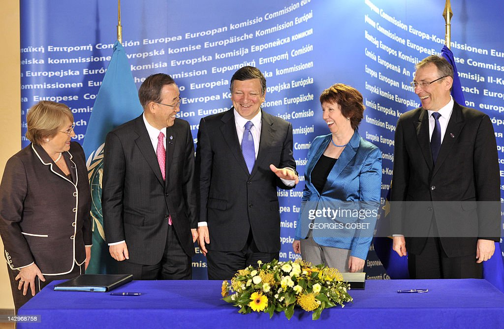 UN Women Executive Director Michelle Bachelet UN Secretary General Ban KiMoon European Commission President Jose Manuel Barroso High Representative...