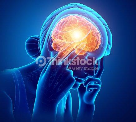 Women Feeling Headache : Stock Photo