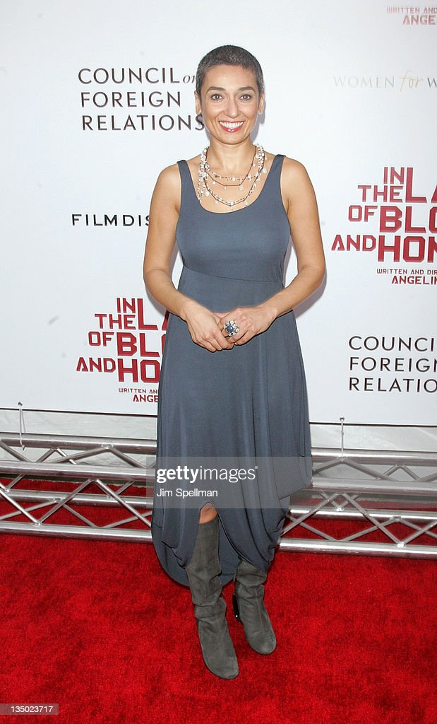 Women for Women International founder Zainab Salbi attends the premiere of 'In the Land of Blood and Honey' at the School of Visual Arts on December 5, 2011 in New York City.