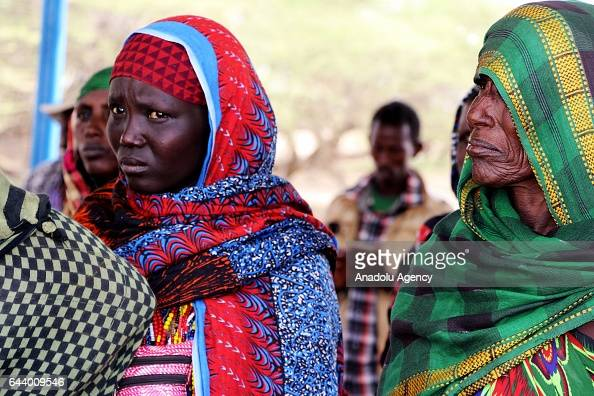 Women gather at Marsabit county in Nairobi Kenya on February 23 2017 They gather to sell their animals to save them from being killed by the drought...