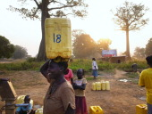 Women get water a community pump on the sixth day of the independence referendum vote January 14 2011 in the town of Yambio south Sudan Yambio a poor...