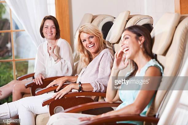 Women getting pedicures