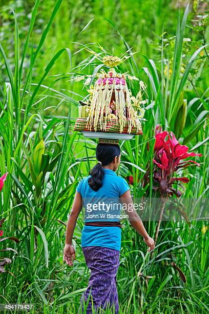 Women going to a Temple, Ubud District, Bali