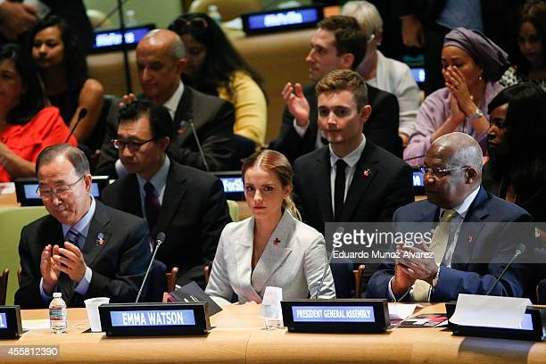 Women Goodwill Ambassador Emma Watson attends the HeForShe campaign launch at the United Nations on September 20 2014 in New York New York