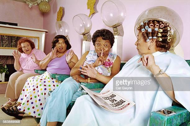Women Gossiping at Hair Salon