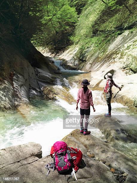Women having a rest in a mountain