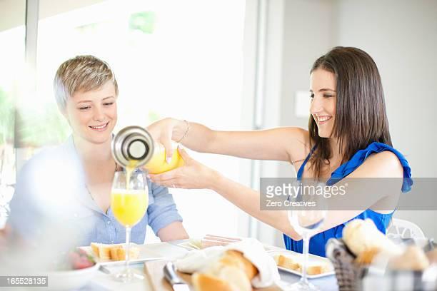 Women having breakfast together