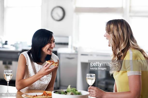 Women having dinner together