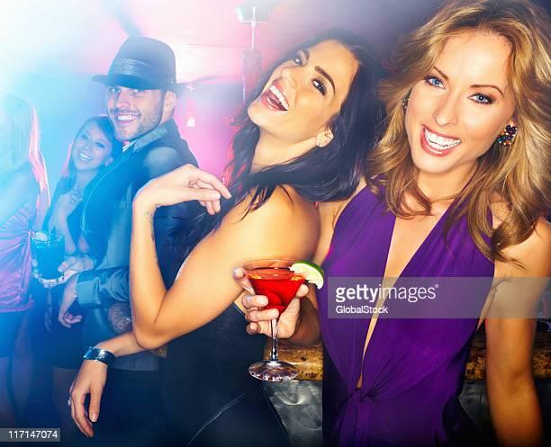 Women having fun at a night club