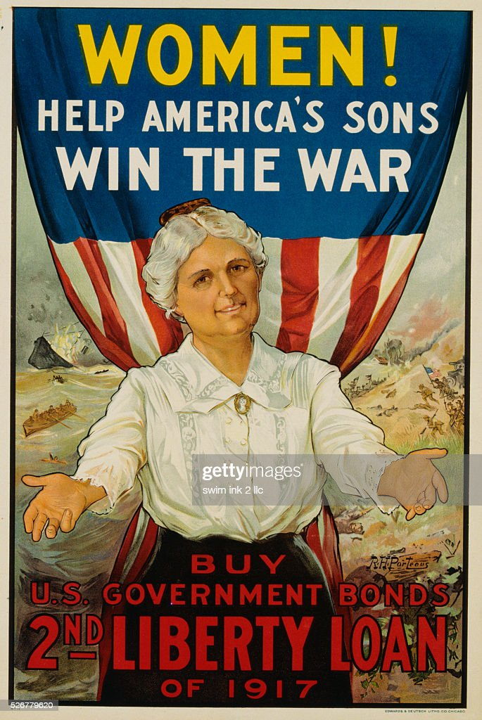 Women Help America's Sons Win the War Poster by RH Porteous