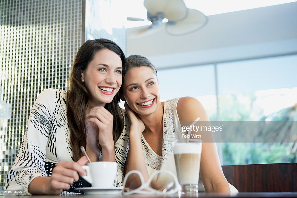 Women in a coffee shop : Stock Photo