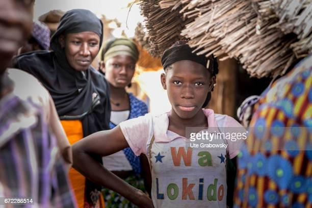 Women in Africa Young girl in a village near Dano on February 27 2017 in Dano Burkina Faso