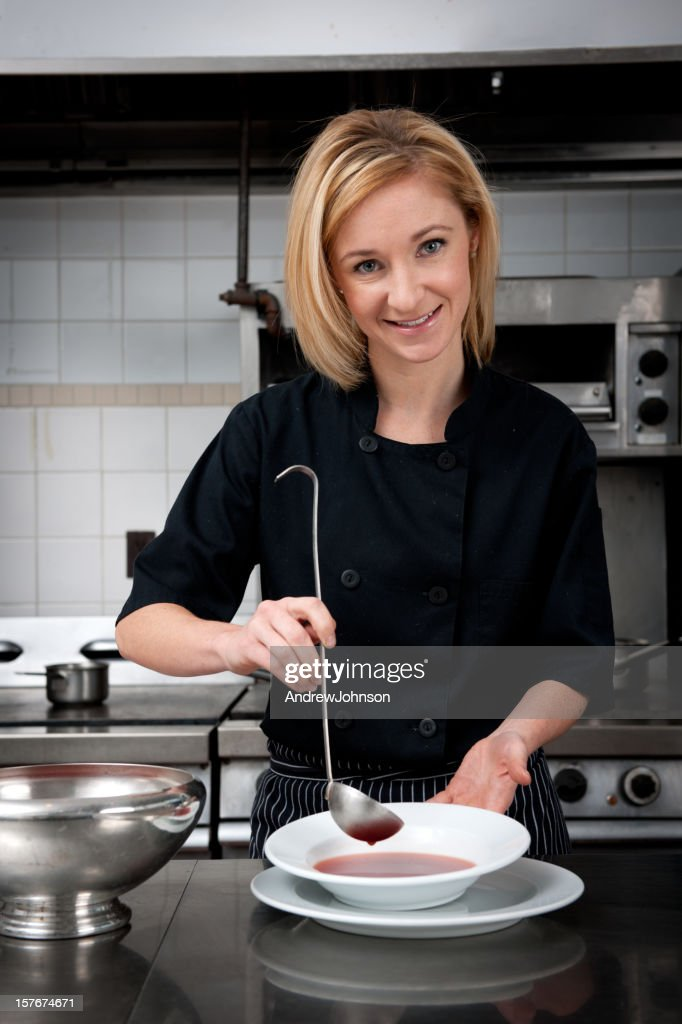 Women in Commercial Kitchen : Stock Photo