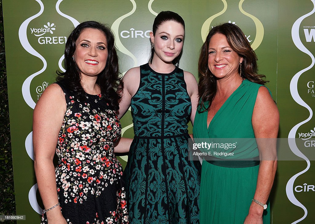 Women in Film (WIF) TV & Media Committee Chairman Danica Krislovich, actress <a gi-track='captionPersonalityLinkClicked' href=/galleries/search?phrase=Michelle+Trachtenberg&family=editorial&specificpeople=202081 ng-click='$event.stopPropagation()'>Michelle Trachtenberg</a>, and Women In Film (WIF) President <a gi-track='captionPersonalityLinkClicked' href=/galleries/search?phrase=Cathy+Schulman&family=editorial&specificpeople=677977 ng-click='$event.stopPropagation()'>Cathy Schulman</a> attend Variety & Women In Film Pre-Emmy Event presented by Yoplait Greek at Scarpetta on September 20, 2013 in Beverly Hills, California.
