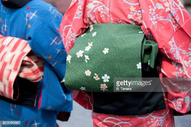 Women in Kimono at Omihachiman City on Lake Biwa in Shiga, Japan