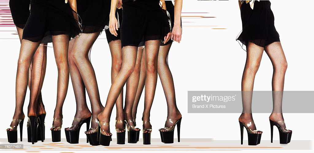 Women in platform shoes : Stock Photo