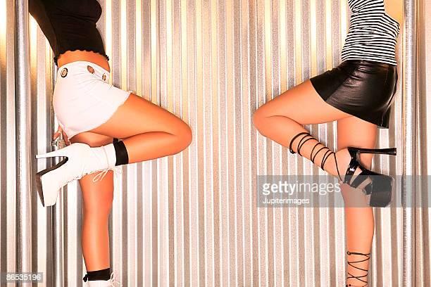 Women in platform shoes