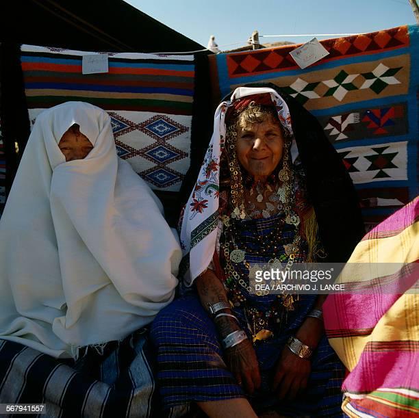 Women in traditional clothes Berber festival Matmata