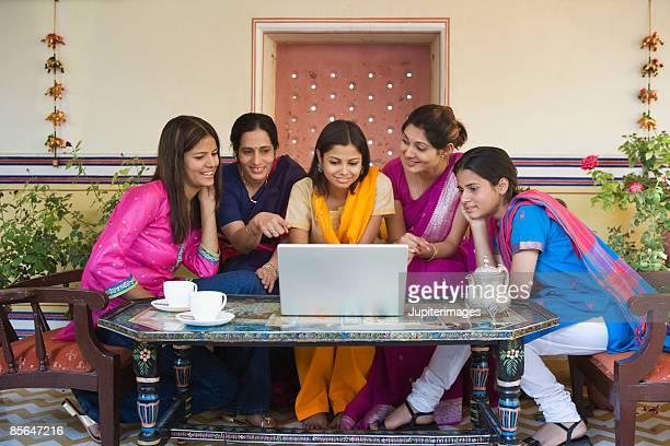 Women looking at laptop computer