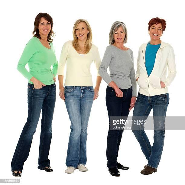 Women mixed age range