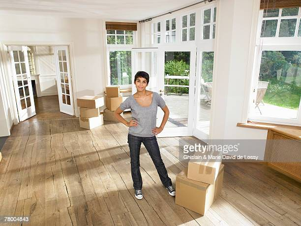 Women moving into new house.