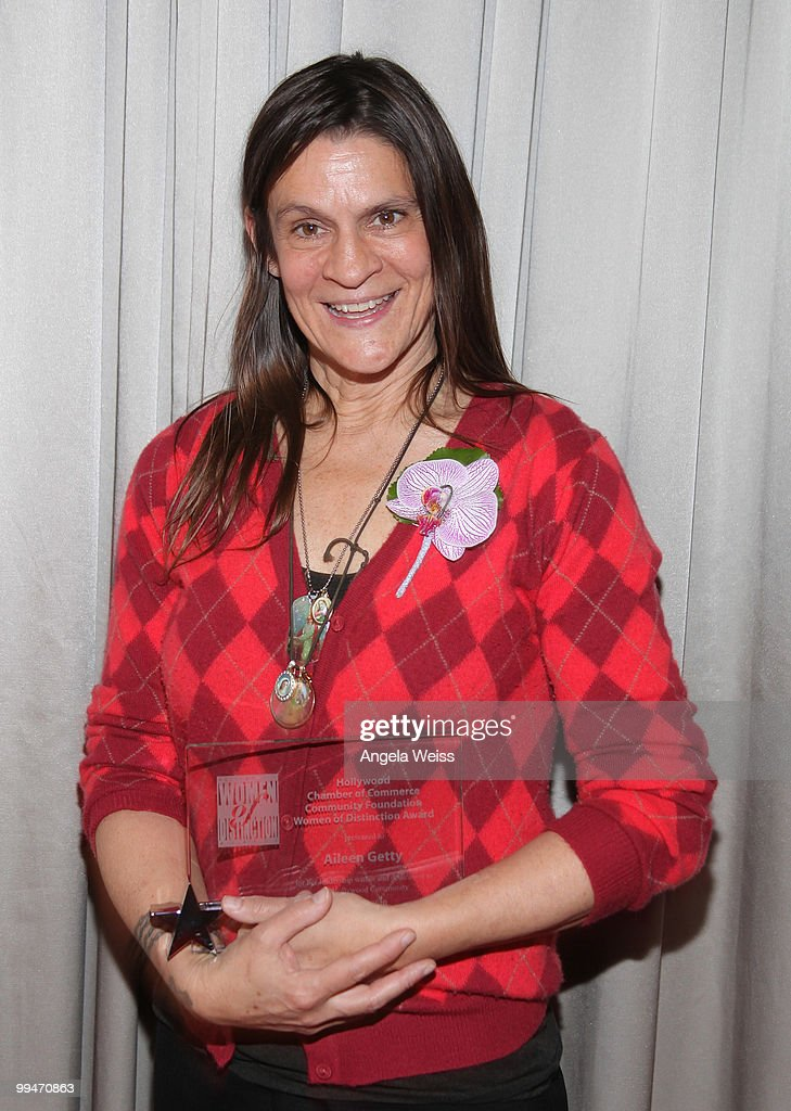 Women of Distinction Honoree Aileen Getty poses at the 17th annual 'Women Of Distinction' Awards luncheon at the W Hollywood Hotel on May 14 2010 in...