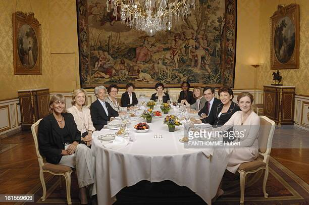 Women Of Fillon Government Francois Fillon lunch at Matignon in the Yellow room with women of government from left to right Valerie LETARD Valerie...