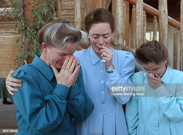 Women of the Fundamentalist Church of Jesus Christ of Latter Day Saints who were sent home without their children console one another at the Yearning...
