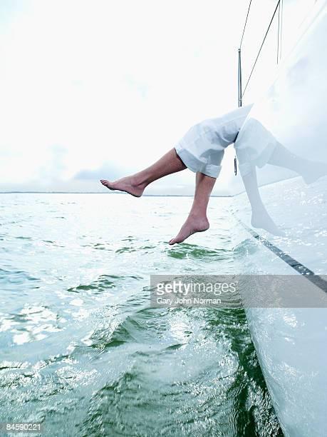 Women on sailing yacht Netherlands