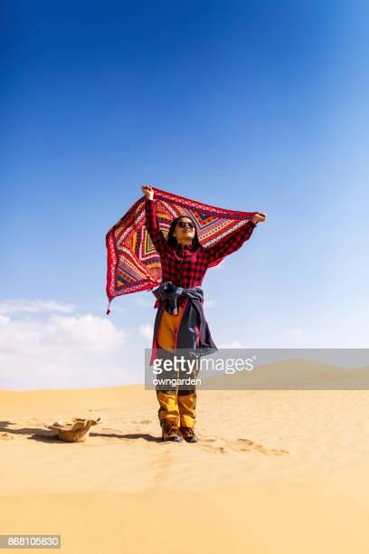 Women on Top of the desert